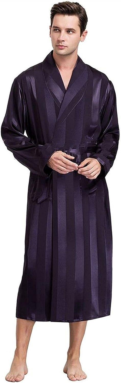 HONGJIU Silk Robes for Men Max Elegant 85% OFF Bathro Satin Mens Robe