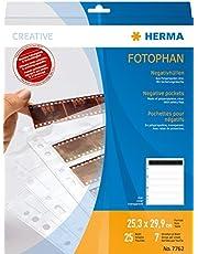 Herma 7762 - Fundas para Negativos (7 x 6 Tiras, Pack de 25 Unidades)