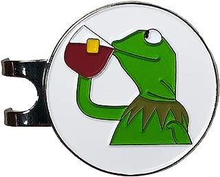 Balanced Co. Kermit Meme Golf Hat Clip with Enamel Magnetic Ball Marker