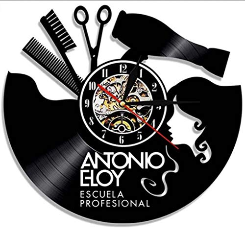 "WYFC 12""Vintage Reloj de Pared decoración Barbería peluquería profesión Hecho a Mano Arte Moderno de Pared Hobby Gran Regalo"
