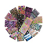 16pcs / set Decals Nail, Art Transfer Sticker, Holographic Starry Paper Set, 3D Adhesive Decals Decoration Wraps
