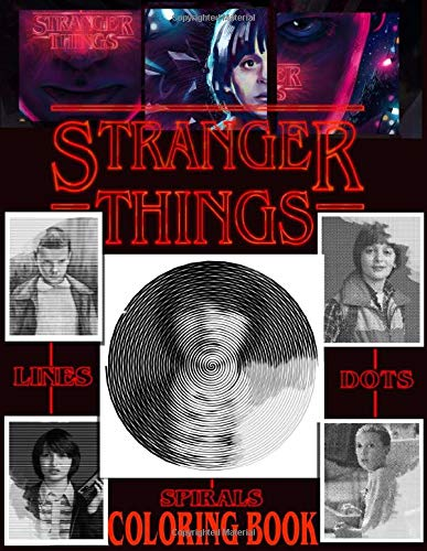 Stranger Things Dots Lines Spirals Coloring Book