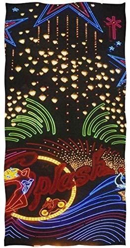 Wheatleya Splash Casino et hôtel Neon Lights Serviettes à Main Gants de Toilette en Coton Face Cloth Chiffons de Lavage Doux