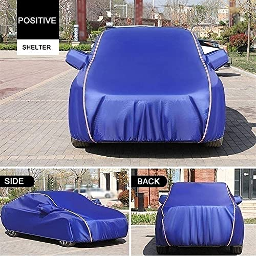 SLZFLSSHPK Funda Coche Exterior con Cubierta Completa para automóvil - pequeña - Resistente al Agua Compatible con MG TF ZR ZT A Prueba de Polvo Evita Que la Nieve y la Lluvia se congele Protección