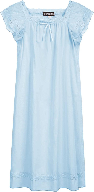 Scarlet Darkness Girl Cotton Dress Flutter Sleeve Dress Square Neck Dress