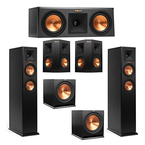 Learn More About Klipsch 5.2 System with 2 RP-250F Tower Speakers, 1 RP-250C Center Speaker, 2 Klipsch RP-250S Surround Speaker, 2 Klipsch R-115SW Subwoofer + AudioQuest Bundle