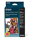 Epson Value Photo Paper Glossy, 4'x6', 100 Sheets (S400034)