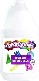 Colorations Washable White Liquid Glue, 1 Gallon, Slime, Gluing, Arts & Crafts, School Suplies, Art Supplies, Classroom Supplies, Projects, General Purpose Glue, Non Toxic Glue, Kids Glue