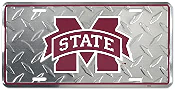 Mississippi State Diamond License Plate Tin Sign 6 x 12in