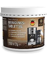 Coffeeano 200 rengöringstabletter för helautomatiska kaffemaskiner och kaffemaskiner Clean&Protect. Rengöringsstänger kompatibla med Jura, Siemens, Krups, Bosch, Miele, Melitta, WMF och mycket mer.