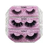 25mm Long 5D mink lashes long lasting mink eyelashes Big dramatic volume eyelashes strip individual 3d false eyelash,C,0.15mm,5D58,Other