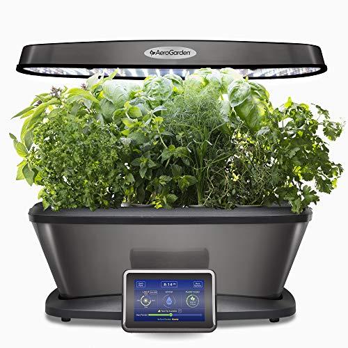 Miracle-Gro AeroGarden Bounty Elite with Gourmet Herb Seed Pod Kit, Platinum