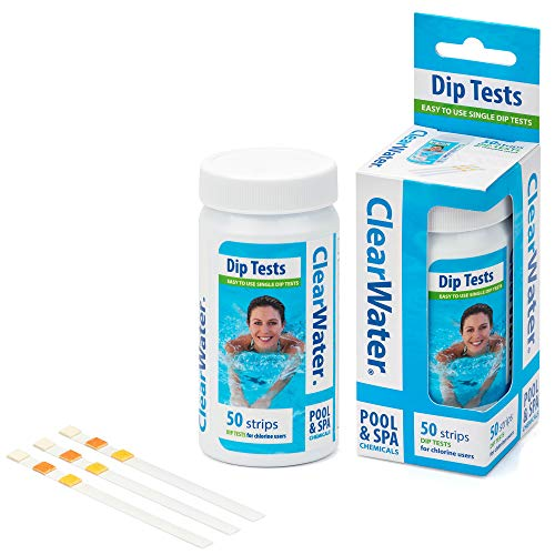 Clearwater CH0043 50 Dip Test Strips for Swimming Pool and Spa Treatment,...