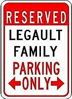 金属サインLegultファミリー駐車場ノベルティ錫ストリートサイン