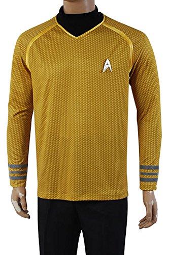 Daiendi Star Trek Into Darkness Captain Kirk Hemd Uniform Kostüm Gelb Version Erwachsene EU Größe Gr. XL, gelb