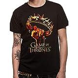 Official Licenced Product Juego de Tronos Crown Logo Oficial Hombre Camiseta (L)