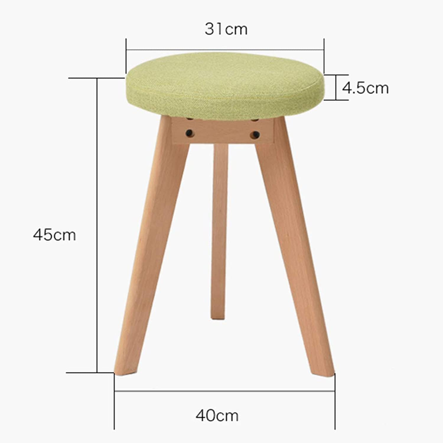 JZX Modern Minimalist Home Table and Stool, Stylish Nordic Bench, Solid Wood Footstool, Stool