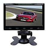 SallyBest 7'' Ultra Thin HD 800480 TFT Color LCD Screen 2 Video Input Car Rear View Headrest Monitor DVD VCR Monitor with Remote Control and Touch Button