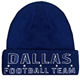 Dallas FootBall Team Embroidery Classic Cuff Beanie Hat Cuffed Winter Hat Knit Toque Skull Cap - Navy OneSize