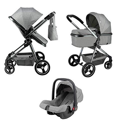 Star Ibaby City Plus - Cochecito de bebe 3 en 1 hasta 22 KG - Incluido Grupo 0 Plus + Bolso Maternal + Saco de Invierno