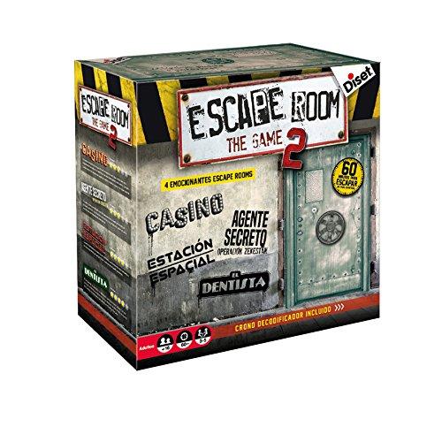 Diset- Escape room the game 2 - Juego de mesa adulto a partir de 16 años