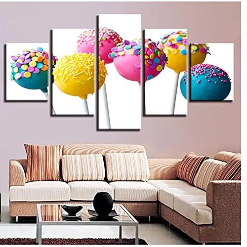Mmpcpdd Decoración para el hogar Lienzo Pintura Lollipop Art Pictures Pictures Poster Wall Art para decoración de la sala de estar -30X40 30X60 30X80Cmx1 Sin marco