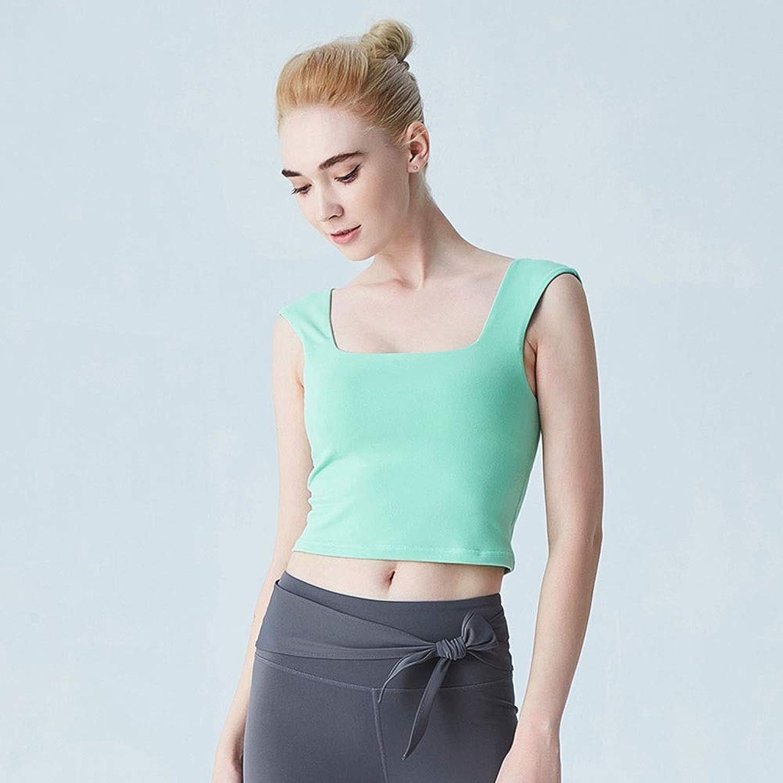 Geblackus Collar Exposed Navel Short Sports Fitness Yoga Clothing Vest
