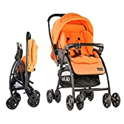 European Standard EN 1888 certified, 5 point safety harness to secure your child safely in the stroller Easy Single-hand fold , Self-standing in folded position, easy to store Reversible handlebar - Allows baby to face parent while strolling 3 positi...