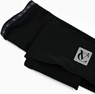 VeloChampion Thermal Insulation Base Layer Lined Long Sleeve Tech Lite Cycling Arm Warmers Black
