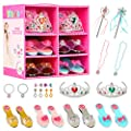 KKONES Princess Jewelry Boutique Dress Up & Elegant Shoe(4 Pairs of Girls Heels Shoes) from KKONES
