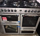 Montpellier MDF100S 100cm Dual Fuel Range Cooker - Silver