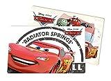 Disney Cars 15526Set di Tovagliette, 2Pezzi, Radiator Springs, Plastica, Multicolore, 29x 43x 0.2cm