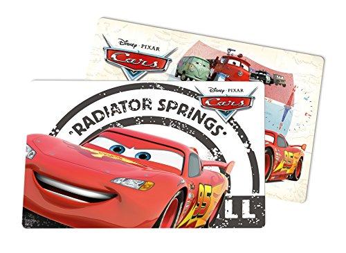 Disney Cars, 2 Stück, Radiator Springs Platzset, Kunststoff, Mehrfarbig, 29 x 43 x 0.2 cm