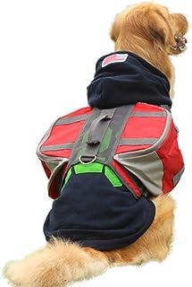 Nfudishpu Dog Saddle Bag Dog Saddle Bags Hiking Gear Backpack Removable Rucksack Travel Carrier Bag Hound Harness Bag for ...