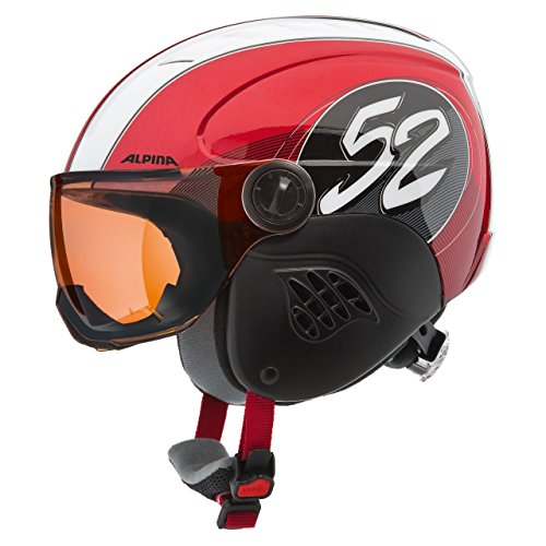 Alpina Carat Visor Kinderskihelm (red/race)