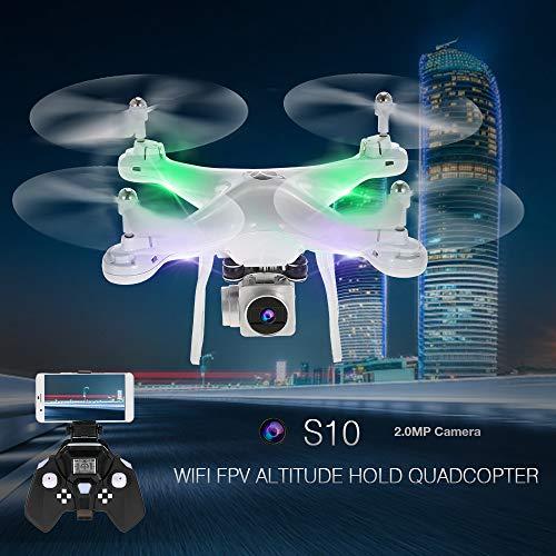 Godyluck S10 2.4G 4CH 6-Axis Gyro WiFi FPV 2.0MP Cámara Quadcopter RC Selfie Altitude Hold One-Key Return Drone RTF