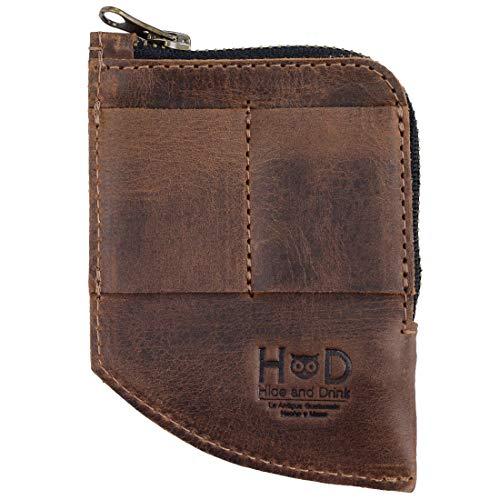 Hide amp Drink Leather EDC Pocket Wallet Cash Organizer Card Holder Accessories Handmade Includes 101 Year Warranty :: Bourbon Brown