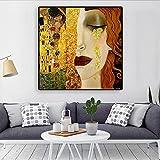 Artista clásico Gustav Klimt Tear pintura al óleo abstracta sobre lienzo carteles e impresiones Cuadros imágenes artísticas de pared para sala de estar 30x30 CM (sin marco)