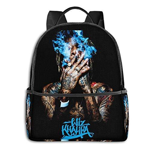 Wiz Khalifa University School Large Capacity Backpack Computer Bag Unisex Suitable Hiking Variety Outdoor Sports