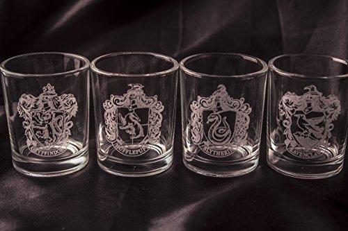 Harry Potter Shot Glasses - Set of 4 House Crests