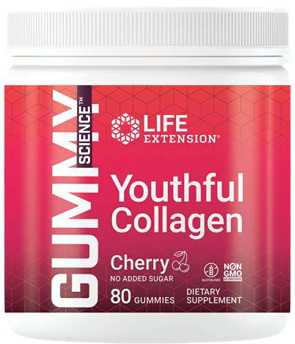 Life Extension Youthful Collagen, 80 Gummies