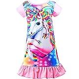 Sylfairy Girls Nightgowns, Unicorn nightgown Princess Pajama Dresses for Girls Sleepwear Nightie Pink