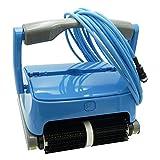 EDENEA Orca 300 – Robot de piscina eléctrico – Limpieza fondo + pared + línea de agua – Robot de piscina eléctrica – Independiente – Compatible con cualquier revestimiento – Doble cesta de filtración