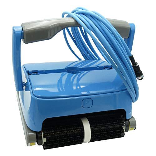 EDENEA Orca 300 - Robot Piscine Electrique - Nettoyage Fond + Paroi + Ligne d'eau - Robot Piscine Electrique - Autonome - Compatible Tout Revêtement - Double Panier De Filtration