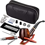 Best Tobacco Pipes - Scotte Luxury Tobacco Smoking Pipe Set,Leather Tobacco Pipe Review