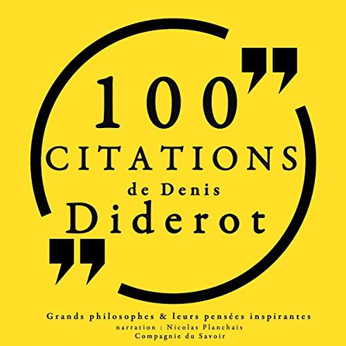 Couverture de 100 citations de Diderot