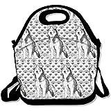 Alaskan Malamute Lunch Tote Bag Bags Awesome Lunch Handbag Lunchbox Box para el trabajo escolar al aire libre