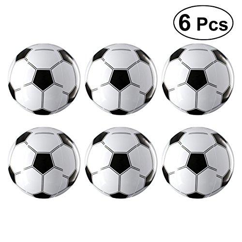 YeahiBaby Aufblasbare Ball Fußbälle Spielzeug für Fan Artikel Kinder Party Favor 6 Stück (Weiß und Schwarz)