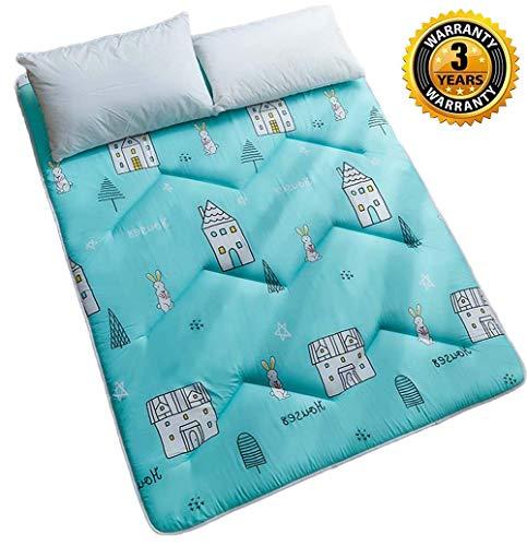 Futon Möbel Baumwolle/Schaum/Polyester Traditionelle japanische Futon-Rollmatratzen, Yoga-Meditationsmatten, Betten, F, 120 * 200 cm