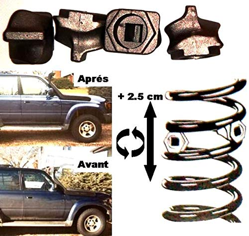GENIAL ! KIT DE REHAUSSE +2CM SUSPENSION AV OU AR POUR BERLINE BREAK 4X4 CAMPING-CAR CAMION ! MONTAGE ULTRA SIMPLE 1MN ! IDEAL POUR TRACTER REMORQUER CHARGER ! SPECIAL SUSPENSIONS A RESSORTS